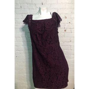 Forever 21 Plus Plum Knit Lace Dress 2X NWT